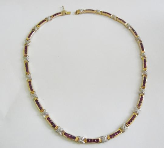 Technibond RARE Technibond Red Corundum X-Link Necklace