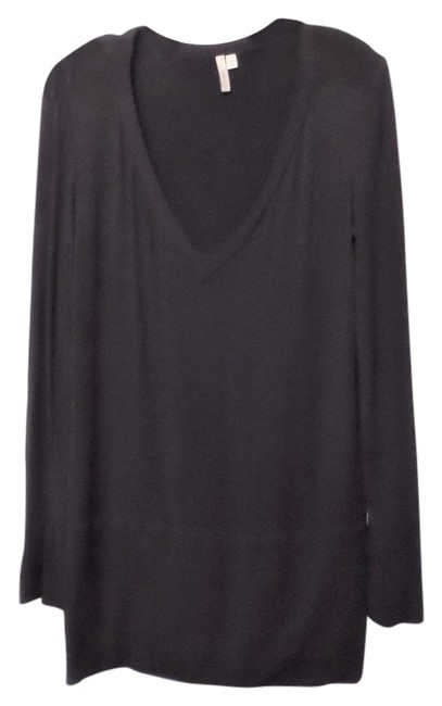 Item - Black Jersey Knit / Sweater Above The Knee Short Night Out Dress Size 10 (M)