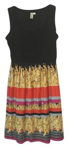 Emma & Michele Pleated A-line Stretchy Panel Sleeveless Dress