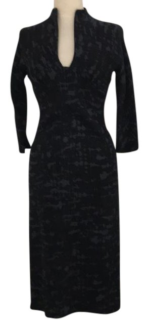 Item - Black / Grey Made In Italy Mid-length Night Out Dress Size 2 (XS)
