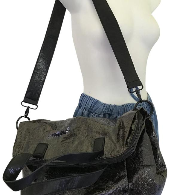 Item - Convertible Chocolate Faux Leather Messenger Bag