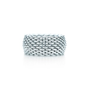 Tiffany & Co. *RESERVED FOR NGUYEN*SIZE 4 Somerset Mesh Ring in Sterling Silver