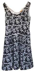 Betsey Johnson Embroidered Sleeveless Fit And Flare Pockets Zipper Dress