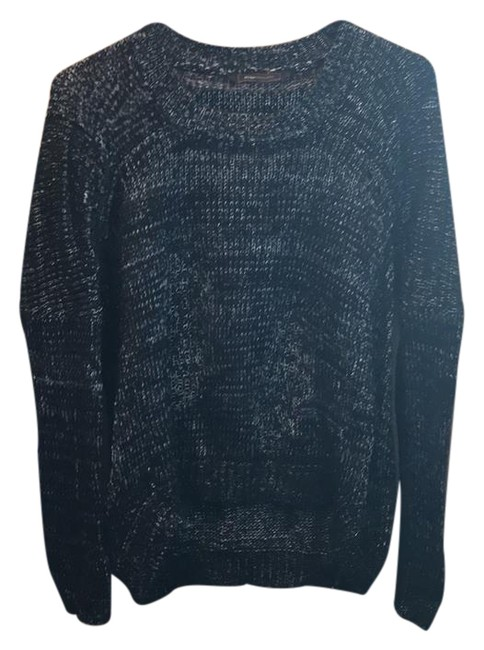 Item - Loose Black with Silver Weave Sweater