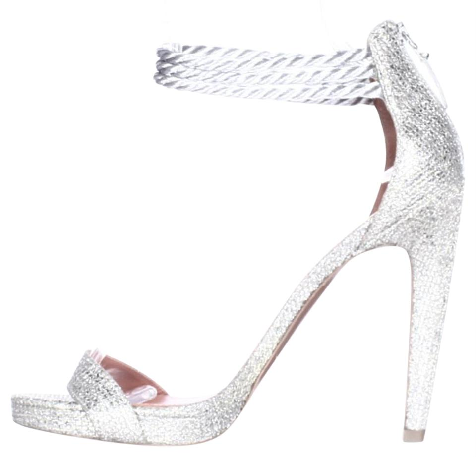 44c7bff0f13 Via Spiga Silver Penelope Rope Ankle Strap Evening Sandals Multi 8.5us Pumps