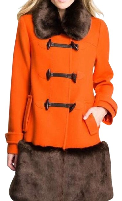 "Item - Orange ""allie"" Wool/Faux Toggle Coat Size 4 (S)"
