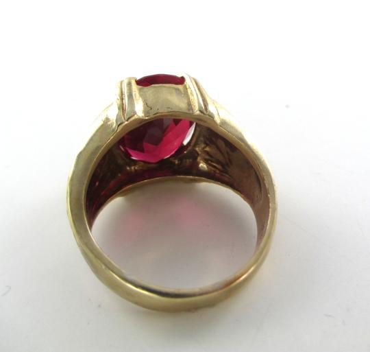 Other 10KT YELLOW GOLD RED STONE 10.5 GRAMS SZ 9 MODERN DESIGN FINE JEWELRY UNISEX