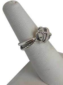 David Yurman Cable Wrap Ring with white topaz and Diamonds