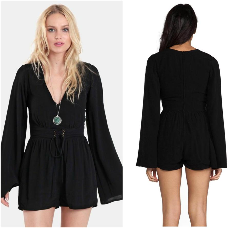 25e0e0ed4d MINKPINK Black Follow Me To Heaven Festival Playsuit Boho Romper Jumpsuit