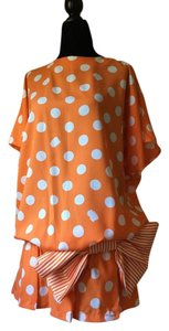 Alliage Paris short dress Orange Made In Poka Dots Summer on Tradesy