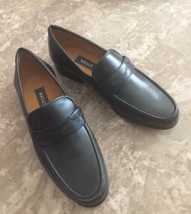 Bally Grey New Leather Loafers Shoes