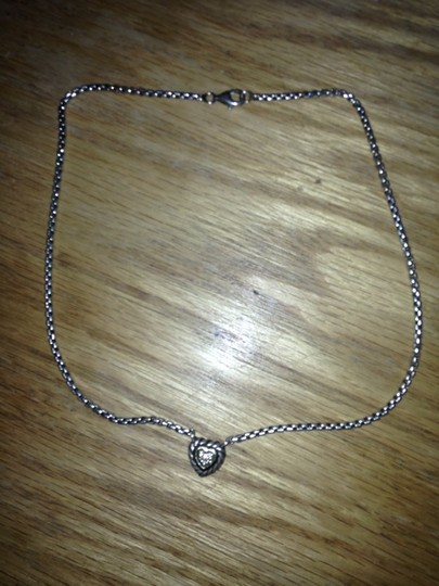 David Yurman DY Heart Necklace with Diamonds