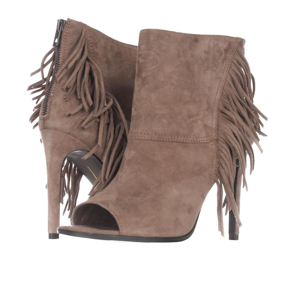 Dolce Vita Fringe Brown Havover Peep Toe Fringe Vita Fs15 Taupe Display Boots/Booties 78083d