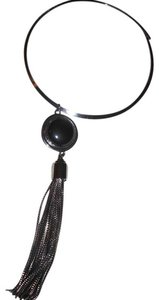Vince Camuto A Statement Onyx Stone Necklace with tassels
