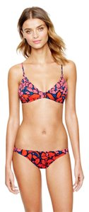 J.Crew Women's Orange Pink Coral Tropical Floral French Top