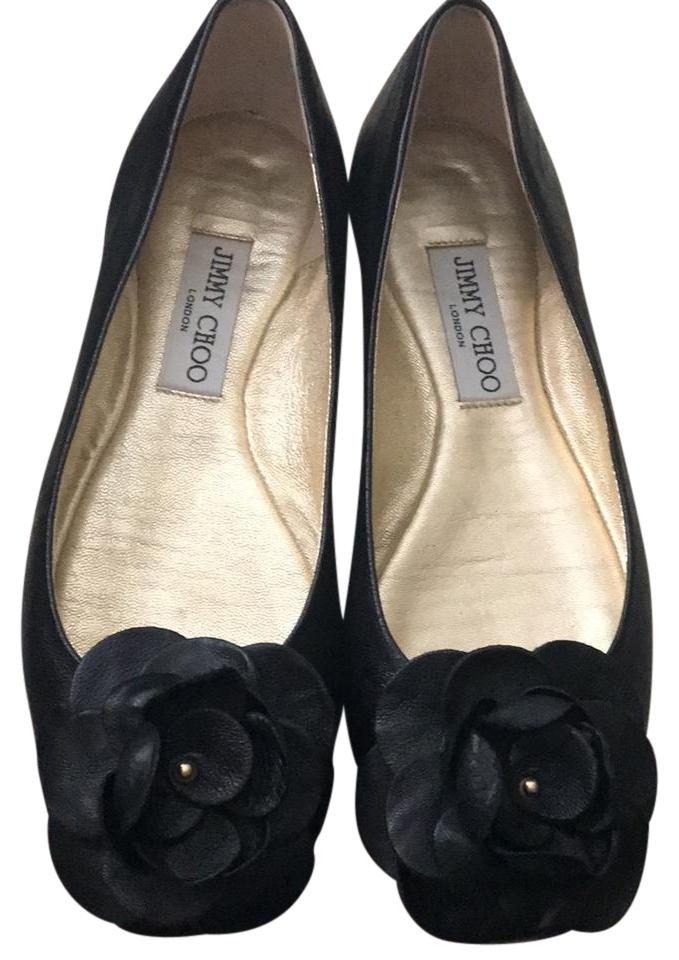 fcae6a9ec07 Black Natural Warwick Leather Ballerina Flats Size US 7 Regular (M ...