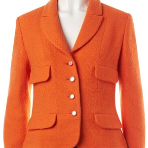 Chanel orange Blazer