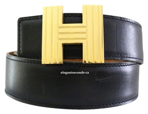 Hermès ~~SALE~~ Auth. Hermes 32MM/75CM Constance Reversible Belt Gold Buckle