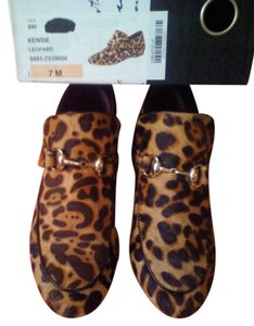 Kensie BROWN LEOPARD CALF HAIR SKIN Flats