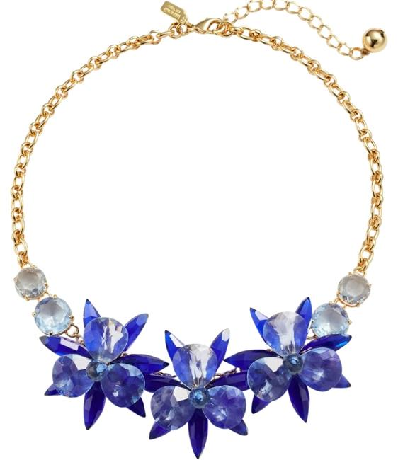 Kate Spade Blooming Brilliant Gold Plated Resin Blue Blossom Flower Necklace Kate Spade Blooming Brilliant Gold Plated Resin Blue Blossom Flower Necklace Image 1
