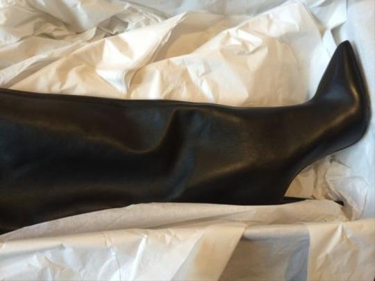 Giuseppe Zanotti Ester Horn Zip Leather Knee Tall Black Boots