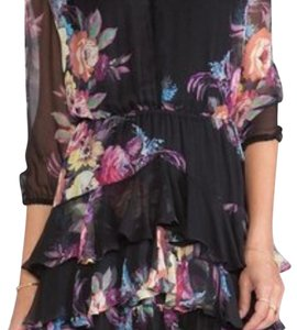 Twelfth St. by Cynthia Vincent short dress black floral dress on Tradesy