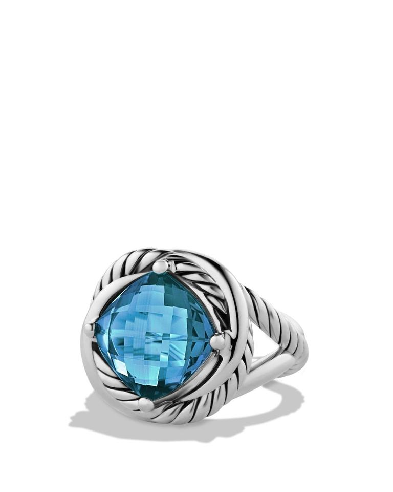 stone wg topaz ring halo swiss aaa rings solitaire cushion bezel detailing set with three diamond milgrain blue
