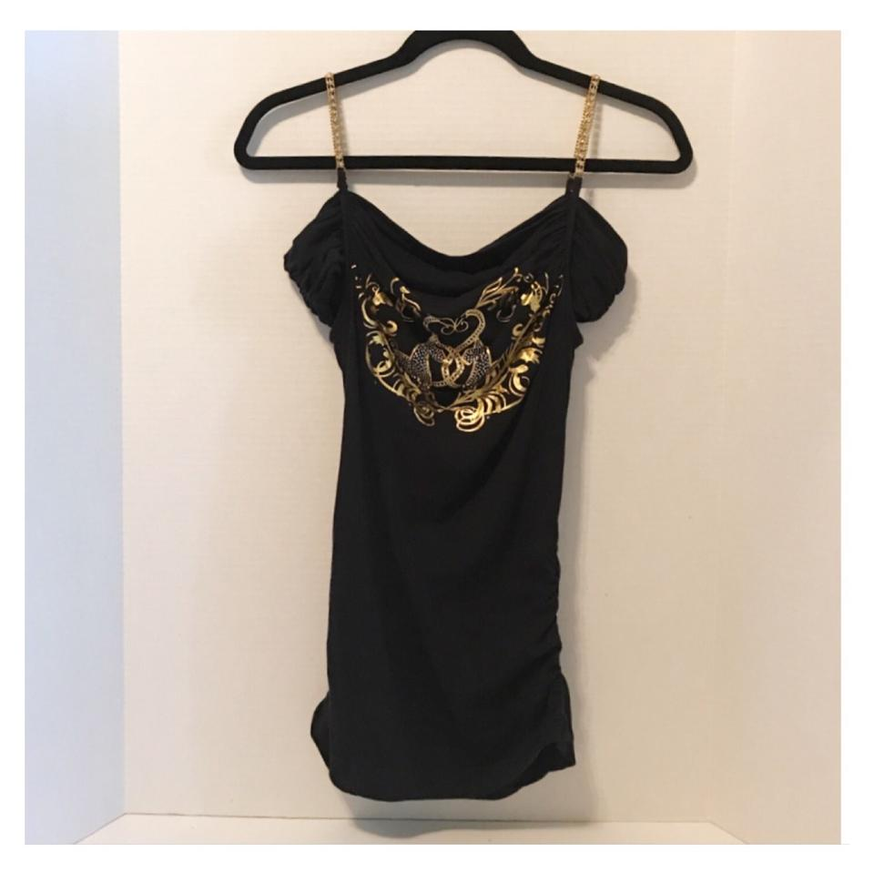 Baby Phat Clothes Interesting Baby Phat Black Gold Silver Rhinestone P Night Out Top Size 60 S