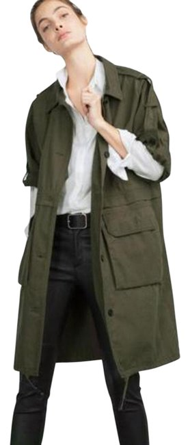 Item - Green Parka with Roll-up Sleeves Coat Size 4 (S)