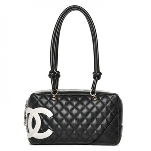 c50435b2a1fb Chanel Cambon Bowler Calfskin Shoulder Bag. Chanel Cambon Ligne Quilted  Large Bowler Black Calfskin Leather ...
