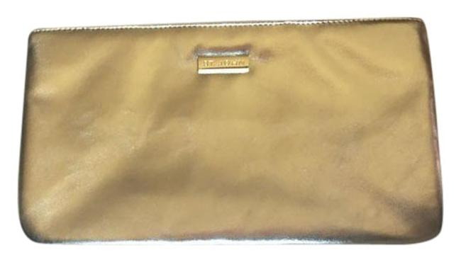 Item - Pochette Damier Gold Leather Clutch