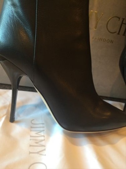 Jimmy Choo Drape Knee Leather Orig Black Boots