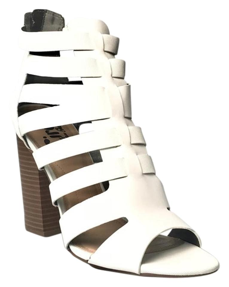 59f6b32c7a6d87 Sam Edelman White Circus York Strappy Sandals Pumps Size US 10 ...