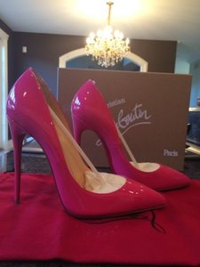 Christian Louboutin Pigalle Follies 120 Patent Pink Pumps