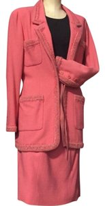 Chanel BOUTIQUE PEACH WOOL SKIRT SUITE