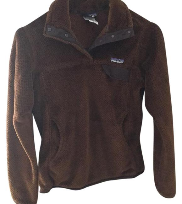 Item - Brown Fleece Pullover Activewear Outerwear Size 4 (S)
