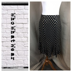 Who What Wear x Target Skirt Black/Gold/White