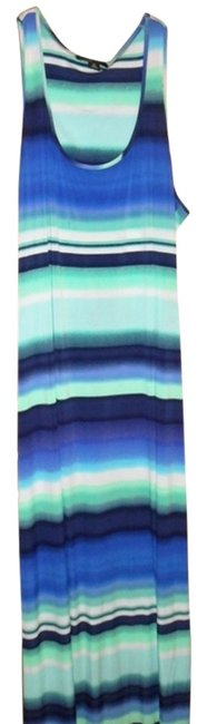Blue Multi Maxi Dress by Ronni Nicole