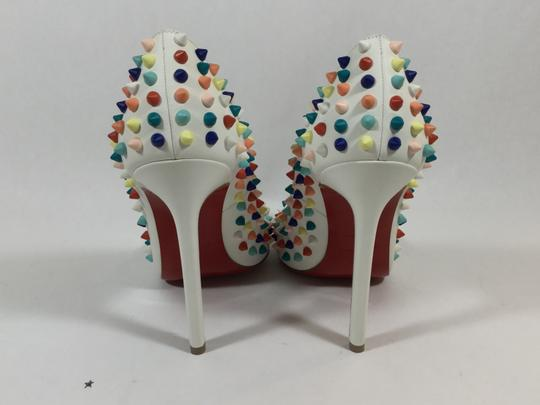 Christian Louboutin Pigalle Gomme White Platforms