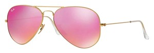 Ray-Ban RB 3025 112/4T - Gold Aviator w/ Pink Mirror Lens -FREE 3 DAY SHIPPING