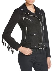 Burberry Leather Leather Suede Black Jacket