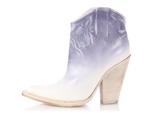 Maison Margiela Leather Floral Mm.el0801.21 Cowgirl Blue and White Boots