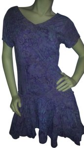 Maggie B. short dress Lavender and green batik on Tradesy
