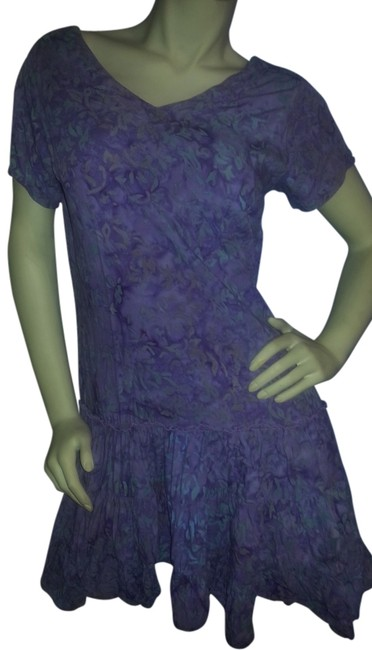 Preload https://img-static.tradesy.com/item/2219523/maggie-b-lavender-and-green-batik-mini-short-casual-dress-size-8-m-0-0-650-650.jpg