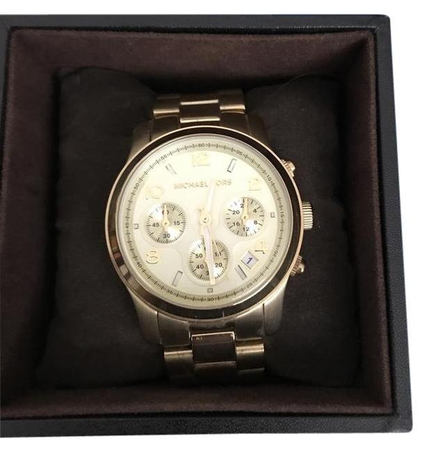 Michael Kors Gold Oversize Iconic' Chronograph Watch Michael Kors Gold Oversize Iconic' Chronograph Watch Image 1