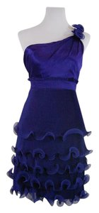 Phoebe Couture Silk One Shoulder Flower Prom Dress