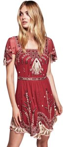 Free People Beaded Embroidered Embellished Cocktail Dress