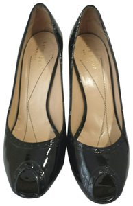 Kate Spade Oxford Patent Leather Loafer Trim Black Pumps