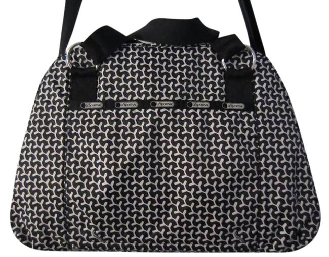 Item - Abbey Carry-on Black and White Nylon Weekend/Travel Bag