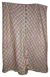 Vision Apparel Vintage Embroidered Skirt Pink Multi